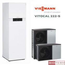 Viessmann Vitocal 222-S с вграден бoйлер 210 литра.