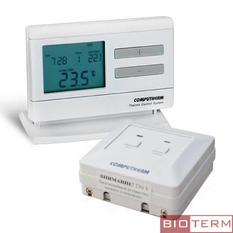 Програмируем радиоуправляем дигитален стаен термостат седмичен програматор- COMPUTHERM Q7RF