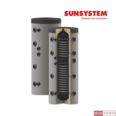 Буферен съд PS2, с две серпентини, с изолация, Sunsystem